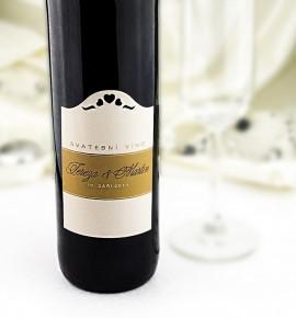 Etiketa na svatební víno - ETV03