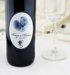 Etiketa na svatební víno - ETV04