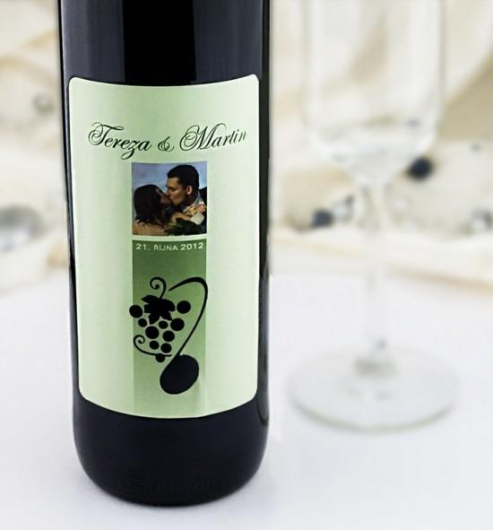 Etiketa na svatební víno - ETV05
