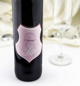 Etiketa na svatební víno - ETV06