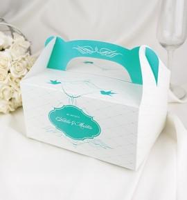 Svatební krabičky s tiskem jmen K1049