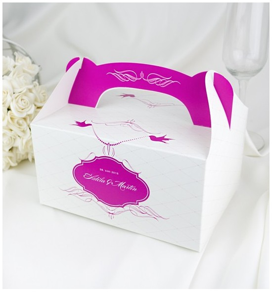 Svatební krabička s tiskem jmen - K1050