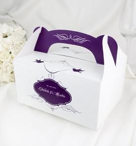 Svatební krabička s tiskem jmen - K1051