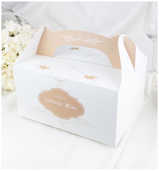 Svatební krabička s tiskem jmen - K1052