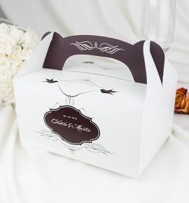 Svatební krabička s tiskem jmen - K1053