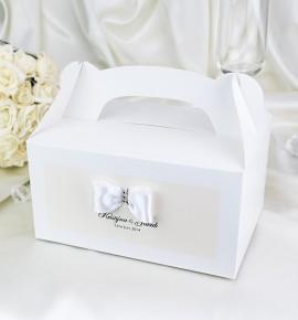 Svatební krabička s tiskem jmen - KNM2024