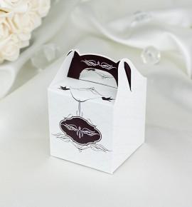 Svatební krabička na dárky/mandličky - K1031