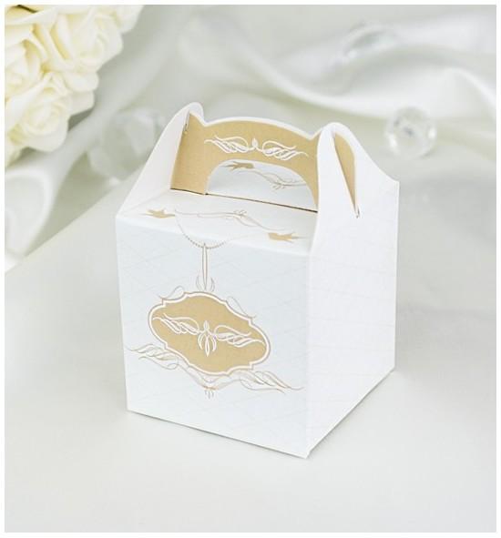 Svatební krabička na dárky/mandličky - K1032