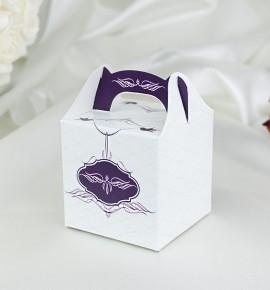 Svatební krabička na dárky/mandličky - K1033