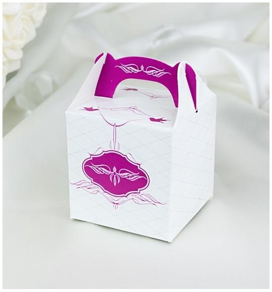 Svatební krabička na dárky/mandličky - K1034