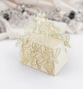 Svatební krabička na dárky/mandličky - K603