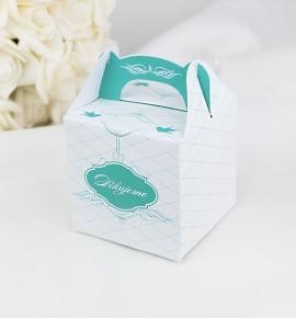 Svatební krabička na dárky/mandličky - K1047