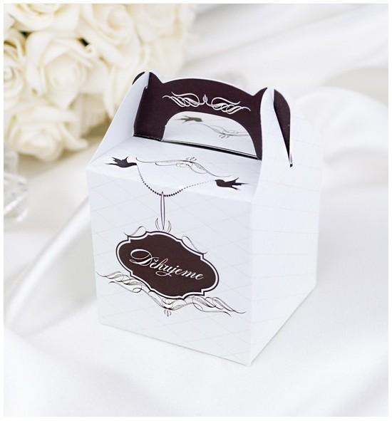 Svatební krabička na dárky/mandličky - K1027