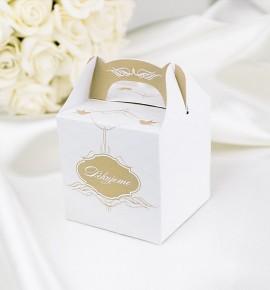 Svatební krabička na dárky/mandličky - K1028