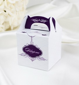 Svatební krabička na dárky/mandličky - K1029