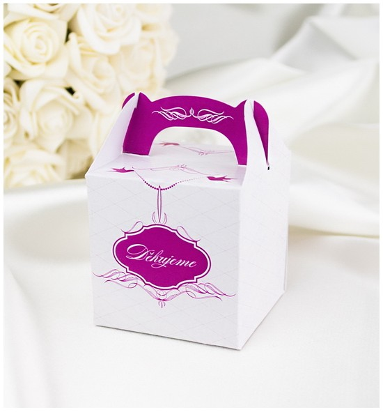 Svatební krabička na dárky/mandličky - K1030