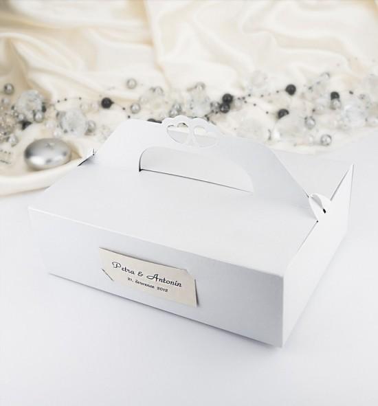 Svatební krabička na výslužku - K102