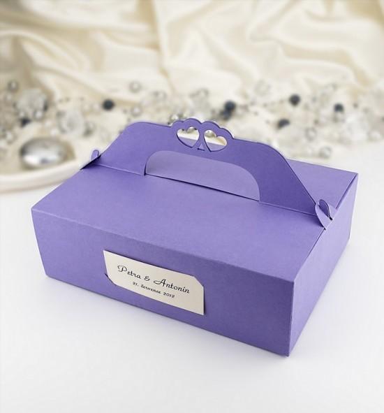 Svatební krabička na výslužku - K107