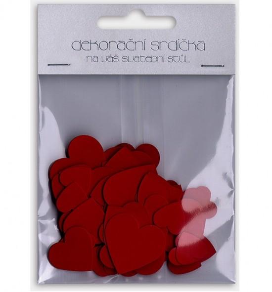 Dekorační srdíčka L20203 - červená