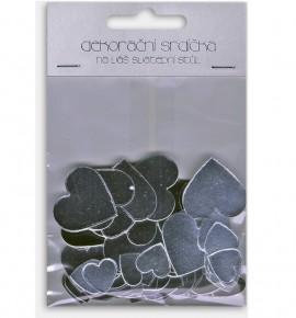 Dekorační srdíčka L20204 - stříbrná