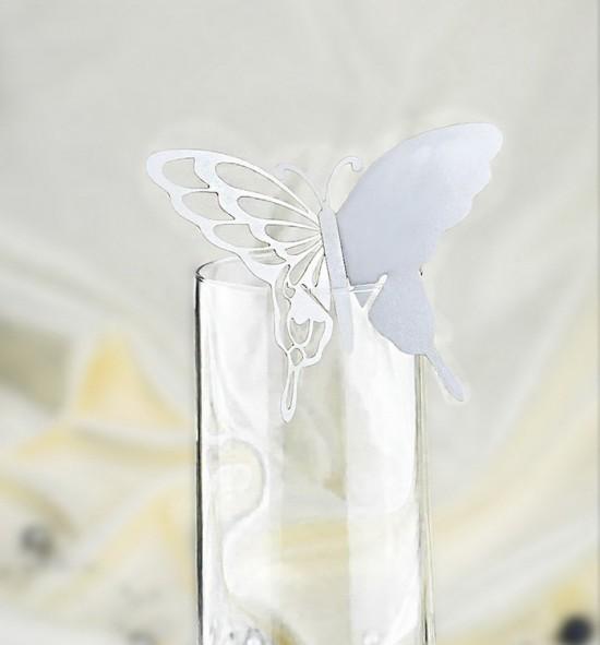 Dekorační motýlek na skleničku - MOT202BT