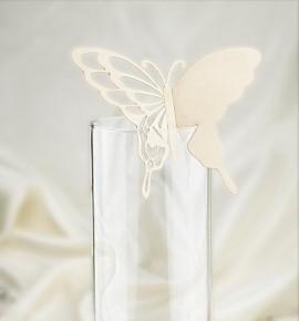 Dekorační motýlek na skleničku - MOT203BT