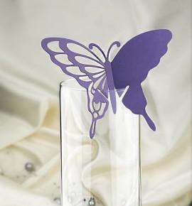 Dekorační motýlek na skleničku - MOT213BT