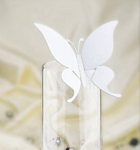 Dekorační motýlek na skleničku - MOT302BT