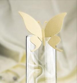 Dekorační motýlek na skleničku - MOT303BT