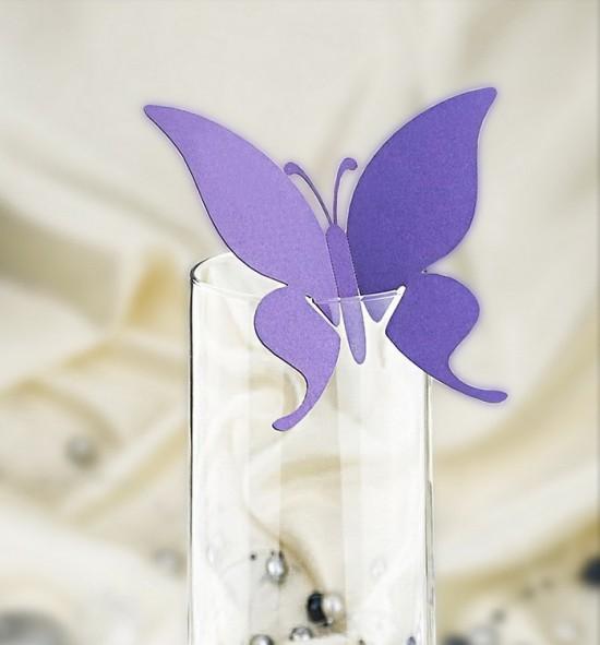 Dekorační motýlek na skleničku - MOT313BT