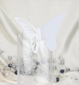 Dekorační motýlek na skleničku - MOT402BT