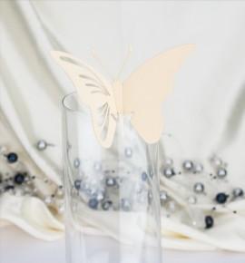 Dekorační motýlek na skleničku - MOT403BT