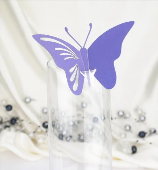 Dekorační motýlek na skleničku - MOT413BT