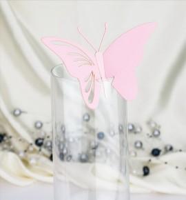 Dekorační motýlek na skleničku - MOT418BT