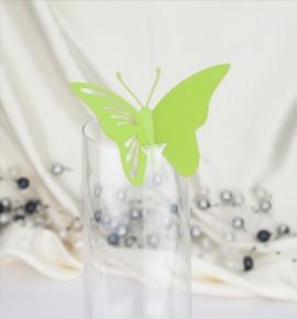 Dekorační motýlek na skleničku - MOT419BT