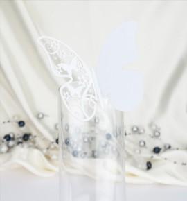 Dekorační motýlek na skleničku - MOT502BT