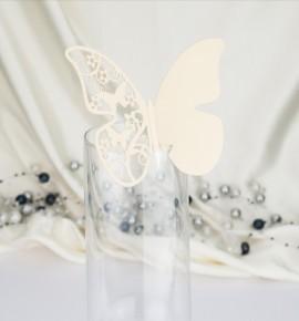 Dekorační motýlek na skleničku - MOT503BT