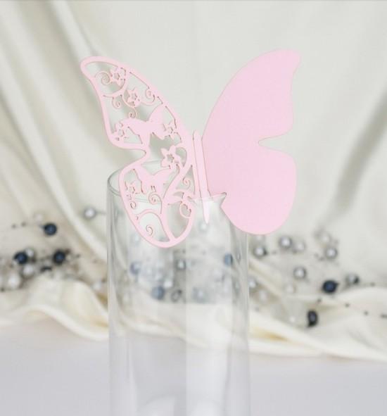 Dekorační motýlek na skleničku - MOT518BT