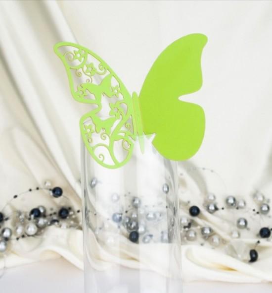 Dekorační motýlek na skleničku - MOT519BT