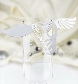 Dekorační ptáček na skleničku - PT202BT