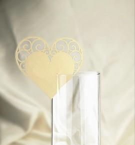 Dekorační srdíčko na skleničku - SR103BT