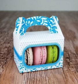 Svatební krabička na makronky - KMR1001