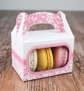Svatební krabička na makronky - KMR1003