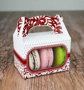 Svatební krabička na makronky - KMR1008