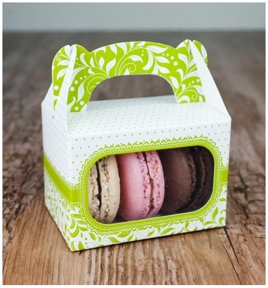 Svatební krabička na makronky - KMR1011