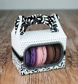 Svatební krabička na makronky - KMR1012