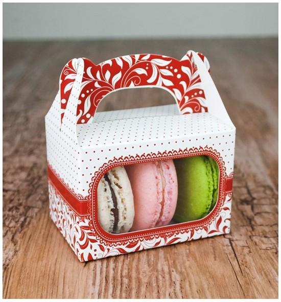 Svatební krabička na makronky - KMR1015