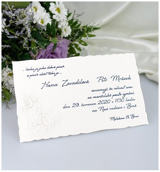 Svatební oznámení G2009