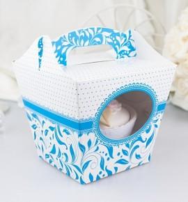 Svatební krabička na cupcake - KC1001
