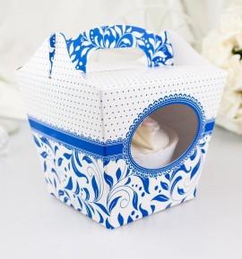Svatební krabička na cupcake - KC1002